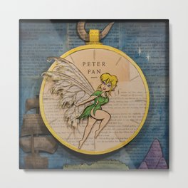 Book Art Illustration from Peter Pan Metal Print