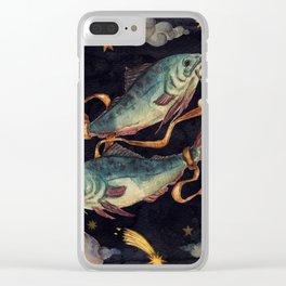 Zodiac sign Pisces Clear iPhone Case