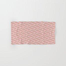 Bisexual Trendy Rainbow Text Pattern (Pink) Hand & Bath Towel