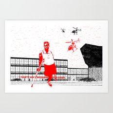 I can't live without my radio Art Print