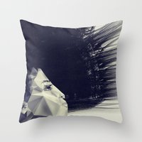 sunrise Throw Pillows featuring sunrise by PandaGunda
