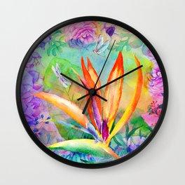 Bird of paradise i Wall Clock
