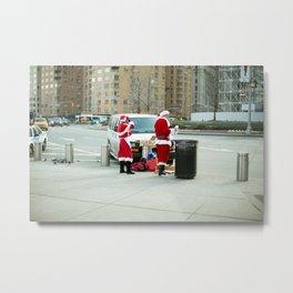 New York Santa Clause Season Metal Print
