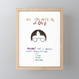 Dwight office all you need is love Framed Mini Art Print