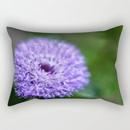 Brazilian Bachelor's Blue Button Flower Rectangular Pillow