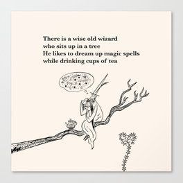 There Is a Wise Old Wizard Canvas Print