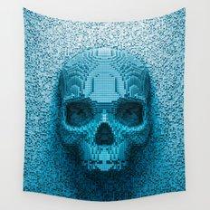 Pixel skull Wall Tapestry