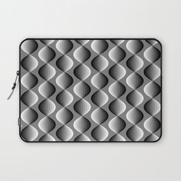 Abstract geometric grayscale pattern  Laptop Sleeve