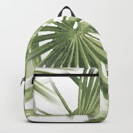Tropical Beach Palm Vector Backpack