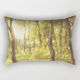Sun Embraced Trees Rectangular Pillow