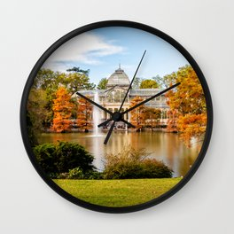 Glass Palace in Retiro Park Wall Clock