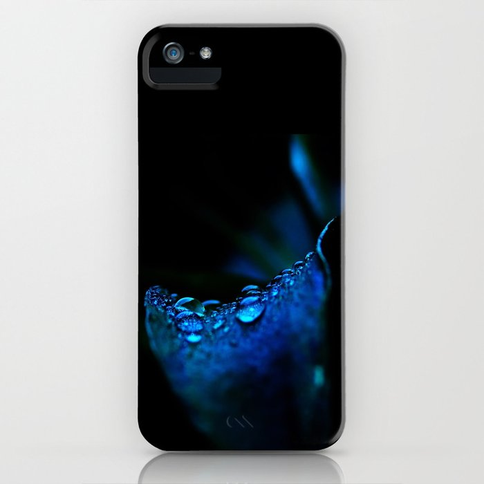 flower blue lily iPhone Case
