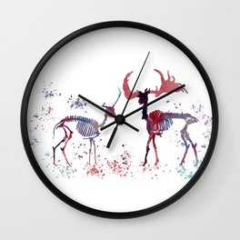 Deer skeleton Wall Clock