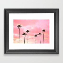 Palm Trees Photography | Hot Pink Sunset Framed Art Print