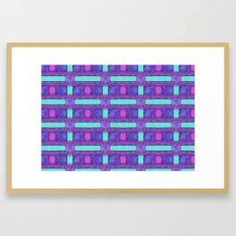 Symmetric square painting Framed Art Print