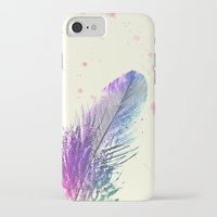 feather iPhone & iPod Cases featuring Feather  by Monika Strigel®