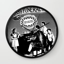 EASY FUNERAL HITS Wall Clock