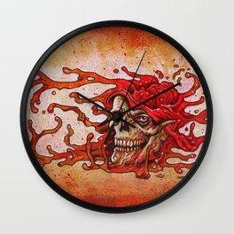 Zombie - Goo Skull Wall Clock