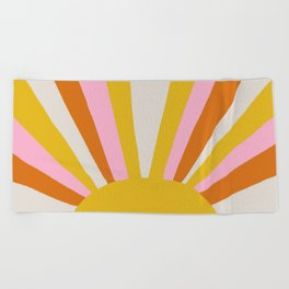 sunshine state of mind Beach Towel