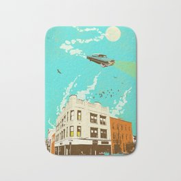 VINTAGE FLYING CAR Bath Mat