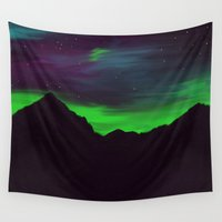 northern lights Wall Tapestries featuring Northern Lights by 💐JadeRose