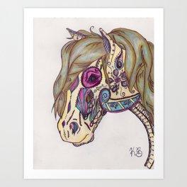 Bohemian Horse Art Print