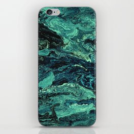 Storm at Sea Teal iPhone Skin