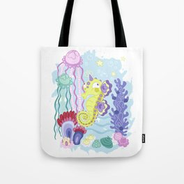 the Majestic Magical Seahorse Unicorn Tote Bag