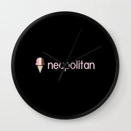 Ice Cream Flavors: Neapolitan Wall Clock