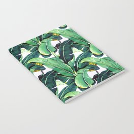 Tropical Banana leaves pattern Notebook