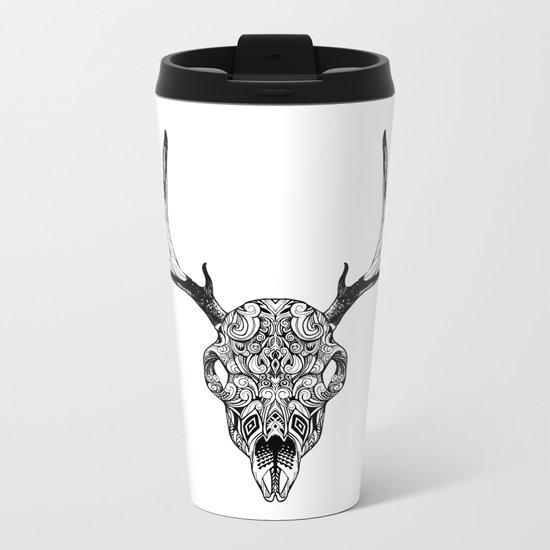 Deer Skull Metal Travel Mug