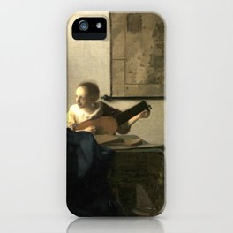 Johannes Vermeer Woman with a Lute iPhone Case