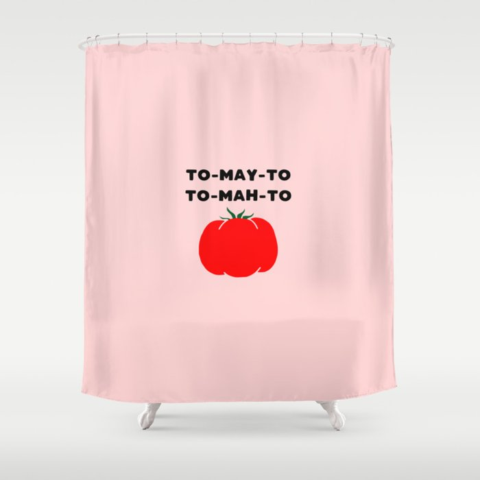 Funny tomato Shower Curtain