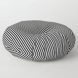 Simple Black & White Licorice Cabana Stripe Floor Pillow