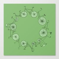 cycle Canvas Prints featuring Cycle by Anita Ivancenko