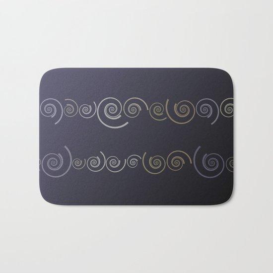 Spiral line up-Purple Bath Mat
