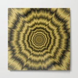 Eye Boggling Explosion in Gold Metal Print