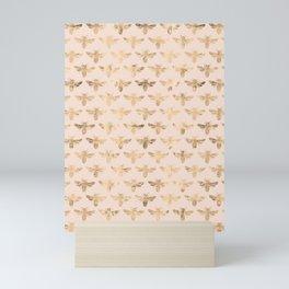 Honey Bees (Pink) Mini Art Print