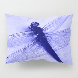Dragonfly Frozen in Blue Pillow Sham