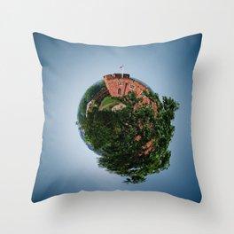Tiny Planet 4 - Sky Castles Throw Pillow