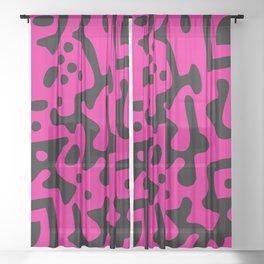 QR Clothes Magenta - Accessories Sheer Curtain