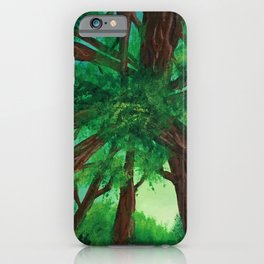 Upwards Forest iPhone Case