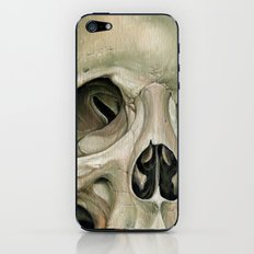 Grey skull iPhone & iPod Skin