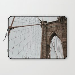 Brooklyn Bridge close up | Colourful Travel Photography | New York City, America (USA) Laptop Sleeve