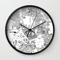 melbourne Wall Clocks featuring MELBOURNE by Maps Factory