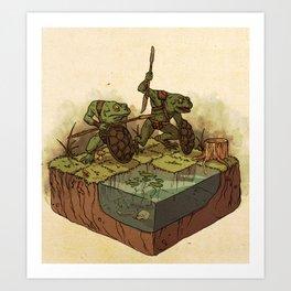 D&D: Bullywugs of the Bog Art Print