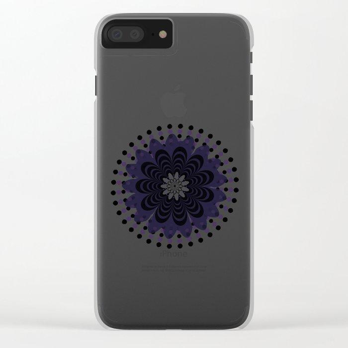 Lilac Mandala Clear iPhone Case