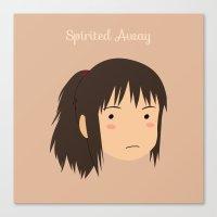 chihiro Canvas Prints featuring Spirited Away Chihiro by bonieiji