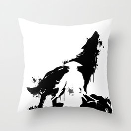 Wolf Beast  Canine  Brute Philanderer Animal Gift  Throw Pillow