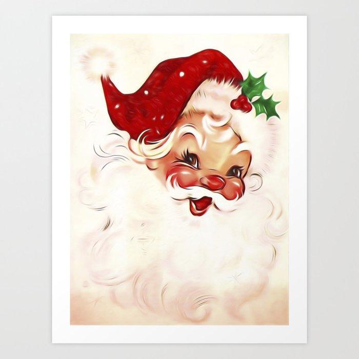 Vintage Santa 4 Kunstdrucke